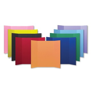 Flipside Corrugated Color Project Board (Pack of 24) (Option: Yellow)