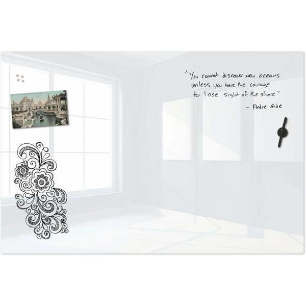 Shop Best Rite Luxe Glass Magnetic Whiteboard Free