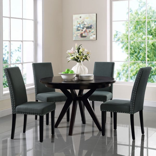 Grey Dining Room Chair: Parcel Upholstered Grey, Beige Dining Side Chair