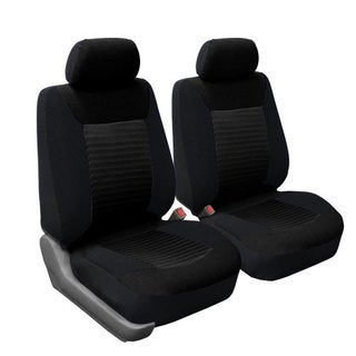 FH Group Black Premium Fabric Front Bucket Seat Covers Set Of 2