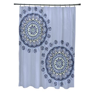 Dual Spiral Geometric Pattern Shower Curtain (3 options available)