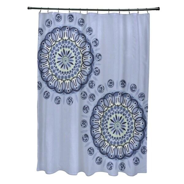 Dual Spiral Geometric Pattern Shower Curtain