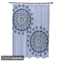 Dual Spiral Geometric Pattern Shower Curtain
