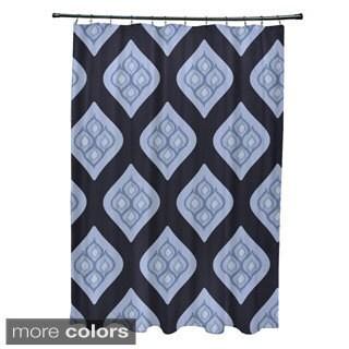 Geometric Abstract Diamond Pattern Shower Curtain