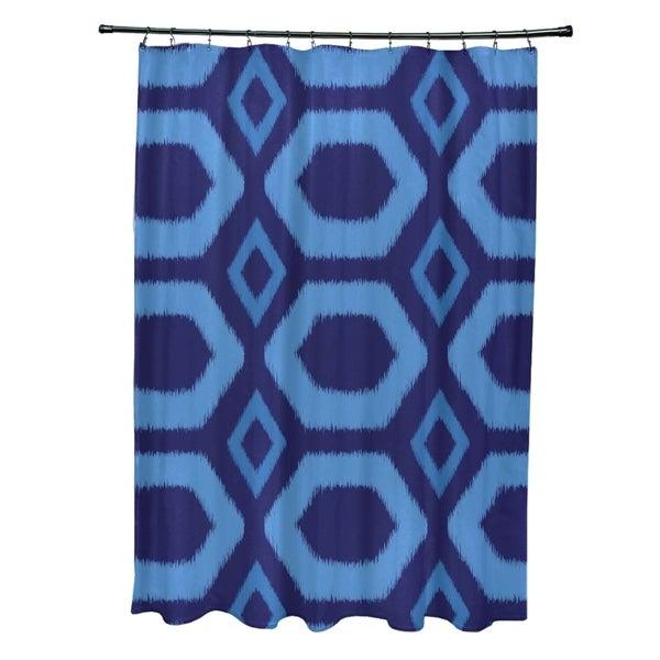 Geometric Tribal Pattern Shower Curtain