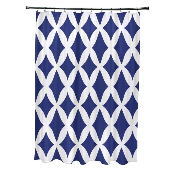 Geometric Lattice Pattern Shower Curtain