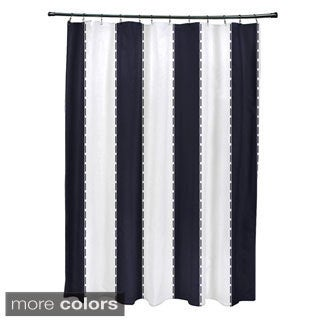 Nautical Stripes Shower Curtain