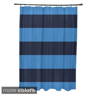 Blue, Stripe Shower Curtains - Overstock.com - Vibrant Fabric Bath ...