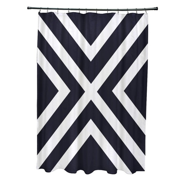 X' Stripes Pattern Shower Curtain