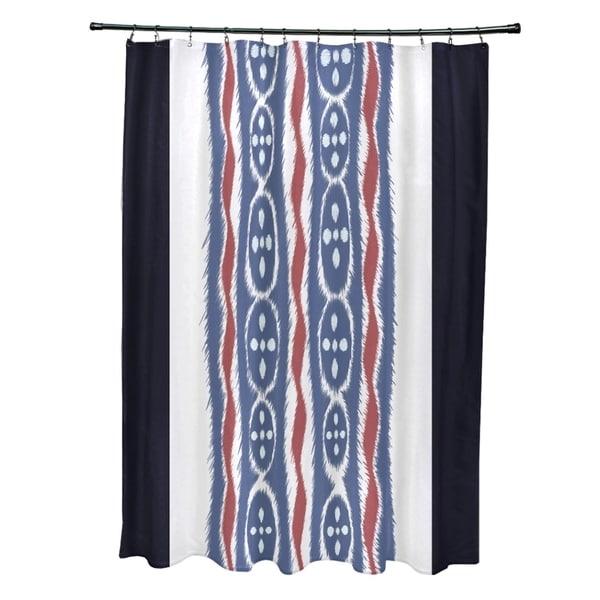 Tribal Stripes Pattern Shower Curtain