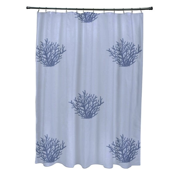 Coastal Reef Pattern Shower Curtain - 16991840 - Overstock.com ...
