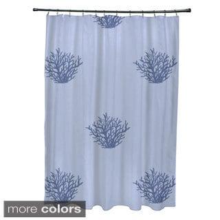 Coastal Reef Pattern Shower Curtain