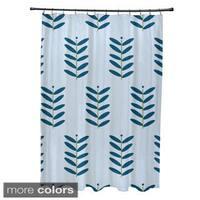 Floral Leaf Pattern Shower Curtain