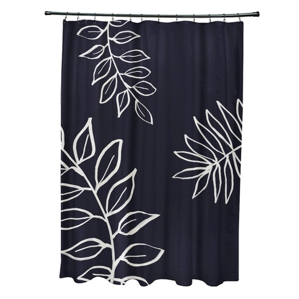 Leaf Pattern Shower Curtain - 71 x 74