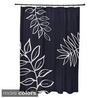 Leaf Pattern Shower Curtain - 71 x 74