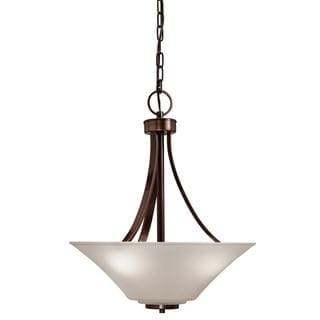 Kichler Lighting Transitional 3-light Oil Rubbed Bronze Inverted Pendant