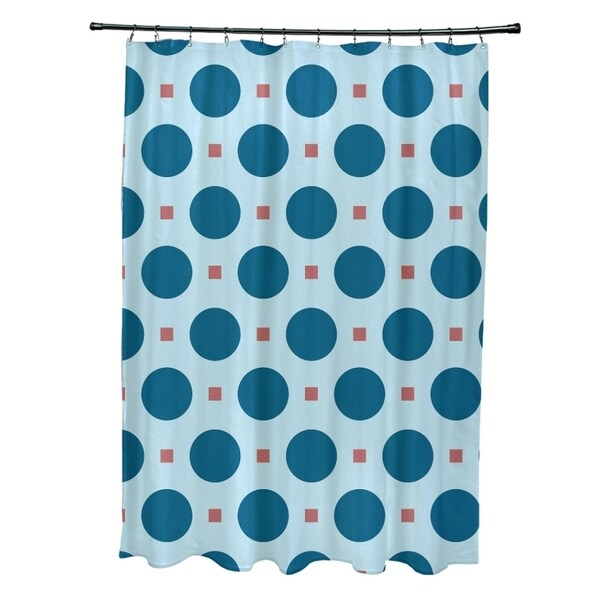 Polka-dot and Geometric Pattern Shower Curtain