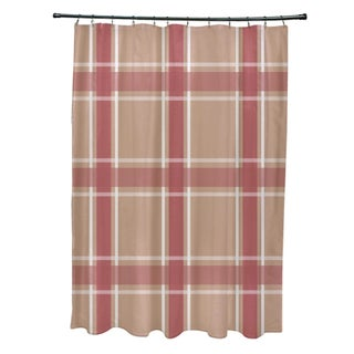 Plaid Pattern Shower Curtain (4 options available)