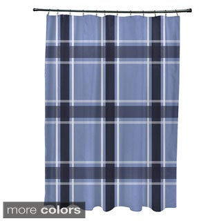 Plaid Pattern Shower Curtain