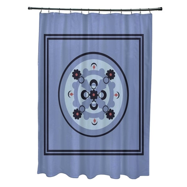 Abstract Geometric Floral Pattern Shower Curtain