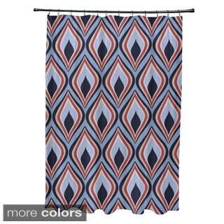 Abstract Geometric Diamond Pattern Shower Curtain
