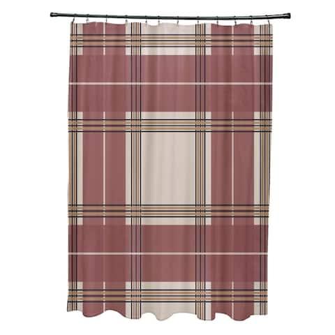 Large Plaid Pattern Shower Curtain