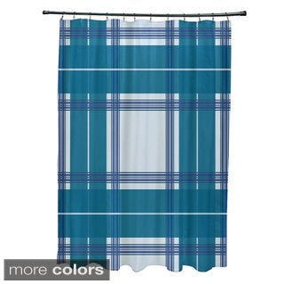 Large Plaid Pattern Shower Curtain