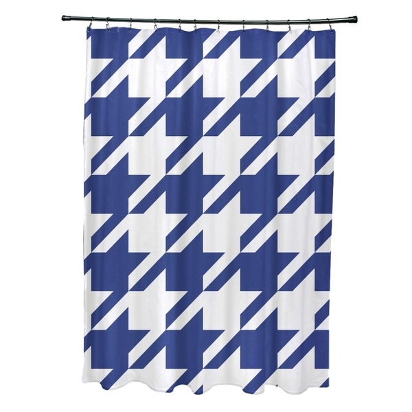 Houndstooth Geometric Pattern Shower Curtain