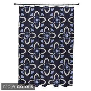 Geometric Floral Pattern Shower Curtain