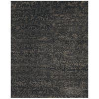 Grand Bazaar Hand-knotted Wool Pile Amzad Rug in Charcoal (4' x 6') - 4' x 6'