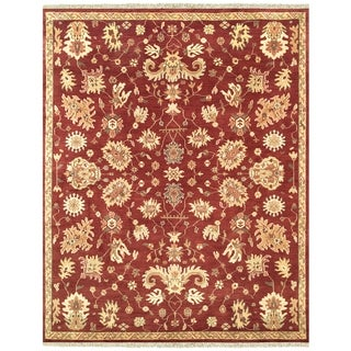 Grand Bazaar Hand-knotted 100-percent Wool Pile Antolya Area Rug in Red (4' x 6')
