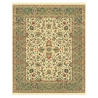 Grand Bazaar Hand-knotted 100-percent Wool Pile Bradford Rug in Beige/Sage - 4' x 6'