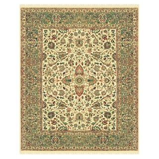 Grand Bazaar Hand-knotted 100-percent Wool Pile Bradford Rug in Beige/Sage 4' x 6'