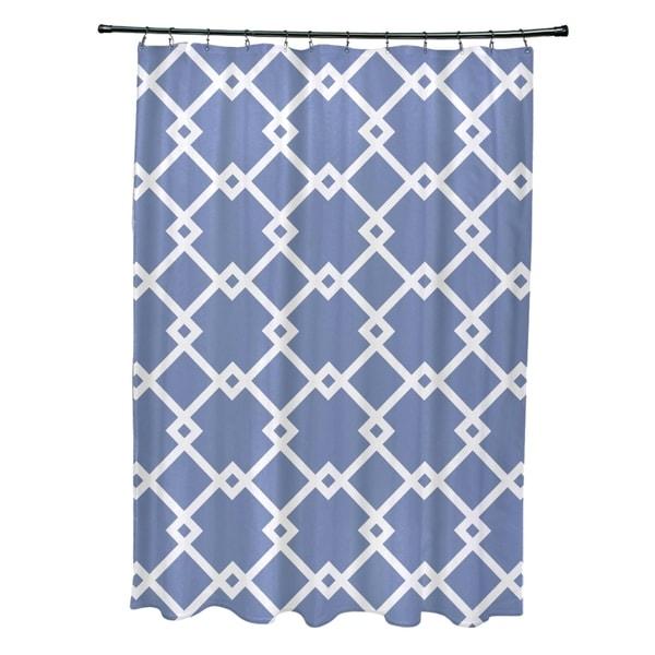 Shop Geometric Trellis Pattern Shower Curtain - Free Shipping Today ...