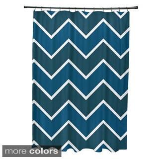 Geometric Chevron Pattern Shower Curtain