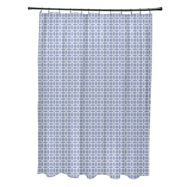 Abstract Trellis Geometric Pattern Shower Curtain