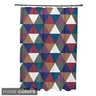 Geometric Triangle Pattern Shower Curtain