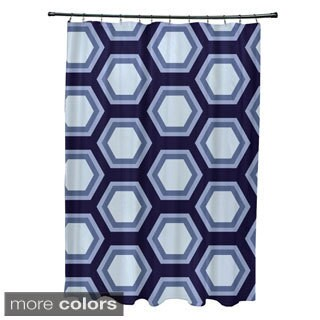 Large Honeycomb Geometric Pattern Shower Curtain