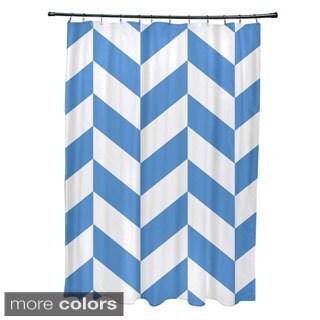 Mixed Chevron Geometric Pattern Shower Curtain