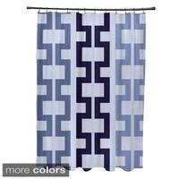 Tribal Geometric Pattern Shower Curtain - 71 x 74