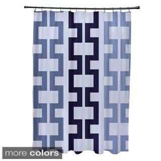 Tribal Geometric Pattern Shower Curtain - 71 x 74