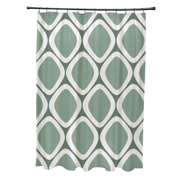Abstract Diamond Geometric Pattern Shower Curtain