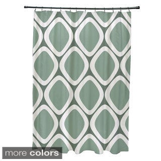 Abstract Diamond Geometric Pattern Shower Curtain