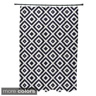 Geometric Diamond Pattern Shower Curtain