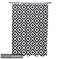 Geometric Diamond Pattern Shower Curtain