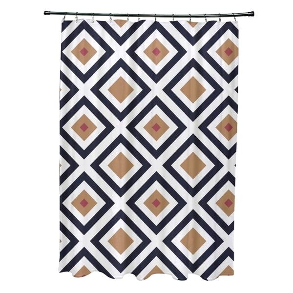 Diamond abstract geometric pattern shower curtain 16992024