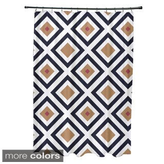 Diamond Abstract Geometric Pattern Shower Curtain