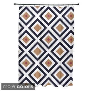 Diamond Abstract Geometric Pattern Shower Curtain