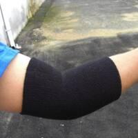 Black Cotton Blend Elbow Bands (Pair)