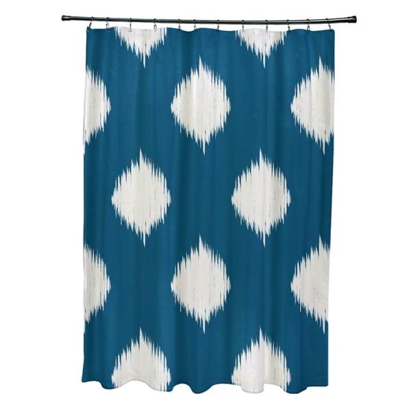 Static Diamond Geometric Pattern Shower Curtain